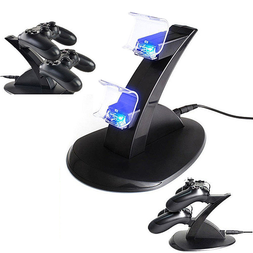 LED Dual Charger Dock Mount USB Charging Stand For Two PS4 Controller For Playstaion 4 Great Charger 4WKJ(China (Mainland))