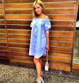 2016 New Arrivals Fashion Summer Sexy Off Shoulder Party Dresses Yellow blue pink Casual Beach Dress
