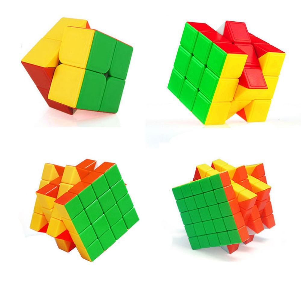 Classical twist puzzle cube set of 2*2 3*3 4*4 5*5 ture color magic cube ####3(China (Mainland))