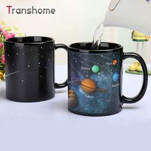 Transhome Creative Porcelain Cup The Solar System Changing Mug Milk Coffee Mug For Home Office 385ML(China (Mainland))