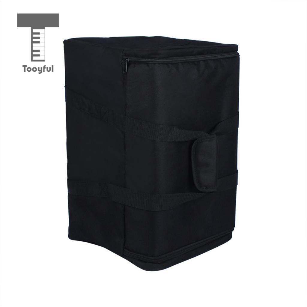 Tooyful Tooyful Durable Oxford Fabric Waterproof Cajon Gig Bag Box Drum Case with Single Shoulder Strap, Carry Handle