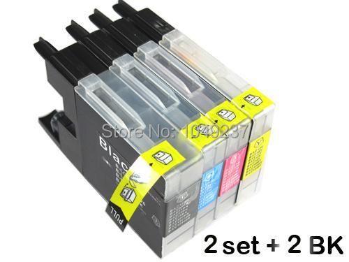 Гаджет  10 ink cartridge (2set+2BK) compatible LC12 LC40 LC71 LC73 LC75 LC400 LC1220 LC1240  for Brother MFC-J6710DW J825DW DCP-J725DW None Офисные и Школьные принадлежности