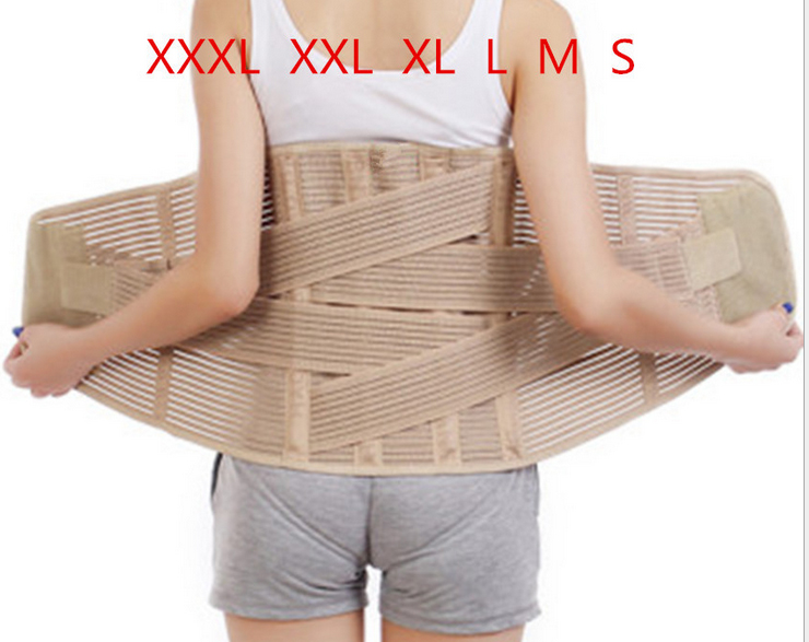 Protection Belt Steel Bars Elastic Support Breathable Relieve Back Muscle Pain Care your Waist(China (Mainland))