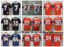 Stitiched,denver broncos Dennis Smith,John Elway,Terrell Davis,Steve Atwater,Shannon Sharpe,Peyton Manning,Throwback,camouflage(China (Mainland))