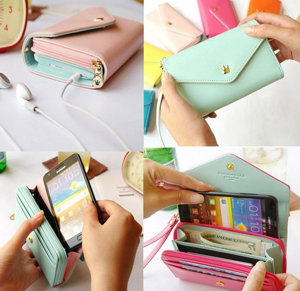 Mini Wallet PU Leather Case For iPhone 5 5S i5 / 4 4S / 6 4.7/ Plus 5.5 for Samsung Galaxy S3, S4 S5 S6 /edge Cover Universal(China (Mainland))