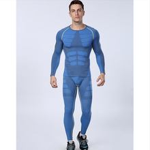 1set=tops + pants / Europe's compression Men's quick-drying breathable Outdoor Sports Long Johns Fitness Underwear(China (Mainland))