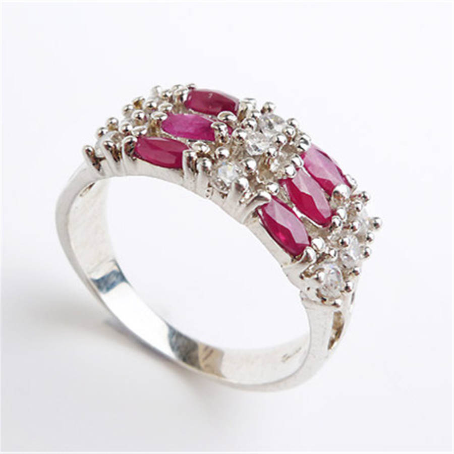 size 75 natural ruby jewelry rings for women lady wedding