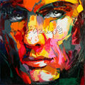 Palette knife painting portrait Palette knife Face Oil painting Impasto figure on canvas Art Hand painted
