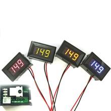 Green DC 0 30V 2 Wire LED Display Digital Voltage Voltmeter Panel Car Motorcycle