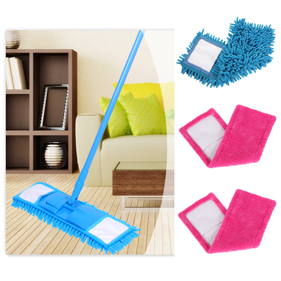 Great bargain! cheapest quality quick dry soft chenille microfibre mop with 4 mopheads mop easy mops floor/car/window cleaning(China (Mainland))