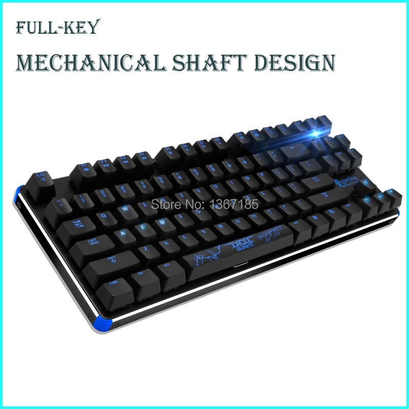 14 Smart Group Fn Shortcuts Mechanical Wired Backlit Keyboard Blacklight Gaming Gamer Laser 87 Key Gaming Keyboard(China (Mainland))