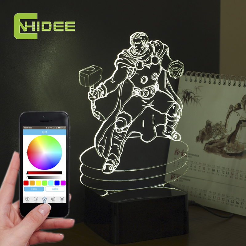 Thor lumi re promotion achetez des thor lumi re for Lampe decoration murale 3d marteau thor