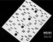 ใหม่แฟชั่น 1 แผ่น 3D Decals สติกเกอร์เล็บ DIY สีขาวและสีดำตัวอักษรสติกเกอร์เล็บตกแต่งเล็บ z096(China)