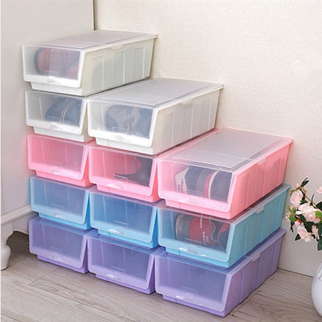 free shipping new 2014 ikea plastic storage box acrylic makeup organizer box for shoes smoked. Black Bedroom Furniture Sets. Home Design Ideas