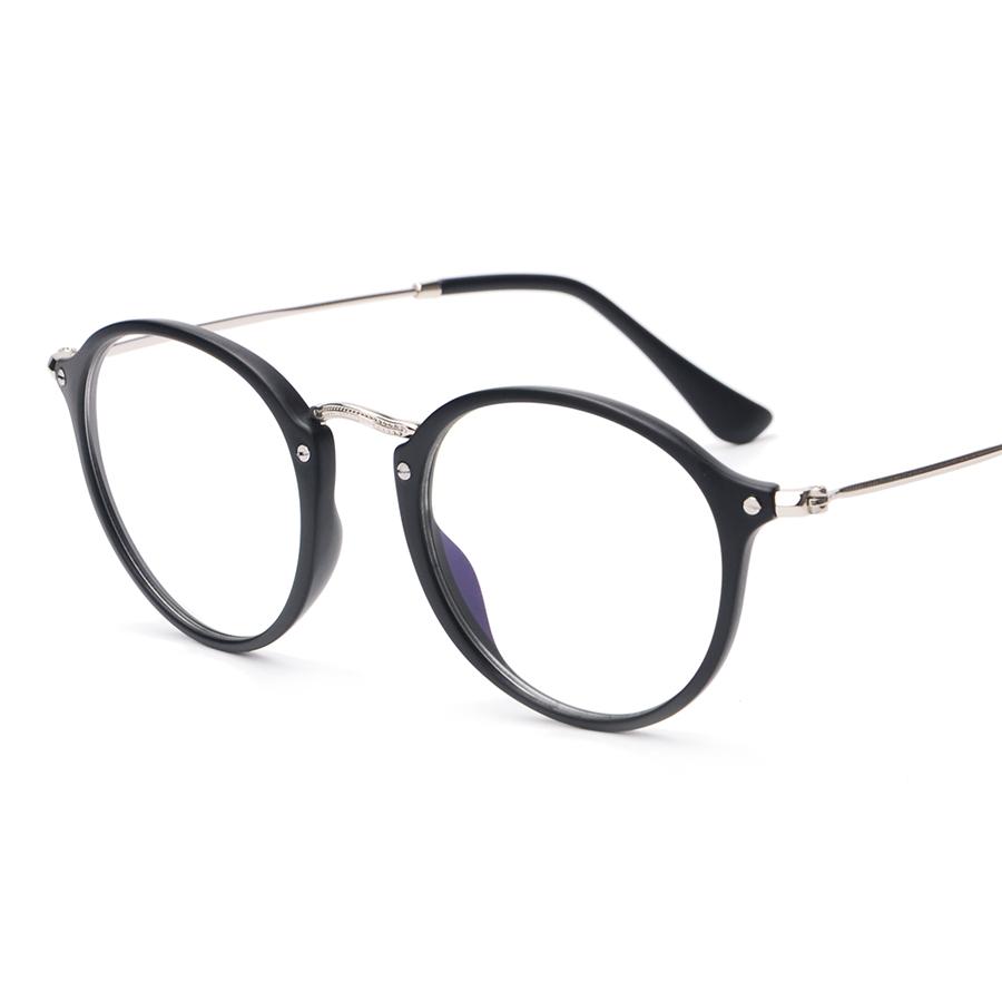 quality 2016 new fashion tr2447 korean glasses frames women gold nerd glasses clear mens eyewear frames