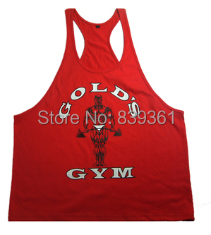 Golds Gym Stringer Tank Top Men Bodybuilding Clothing and Fitness Mens Sleeveless Shirt Sports Vests Cotton