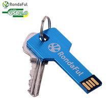 KEY  usb flash drive USB 2.0 Pen Drive 32gb 16gb 8gb 4gb pendrive waterproof Metal Key Memory Stick