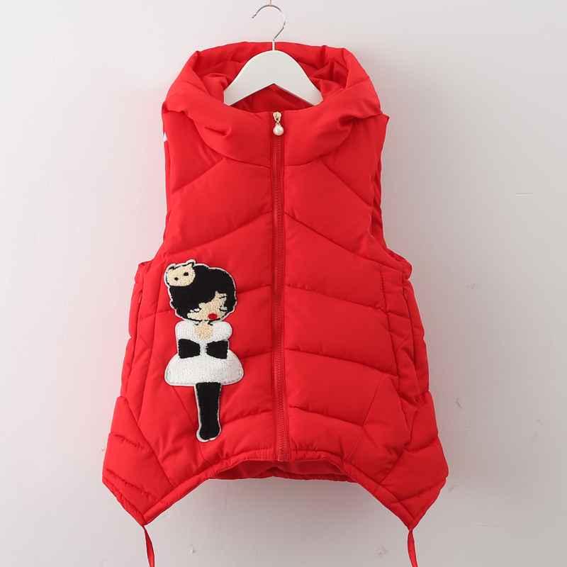 Children's clothing child vest female child autumn and winter medium-long big boy down thermal thickening cotton-padded jacket(China (Mainland))