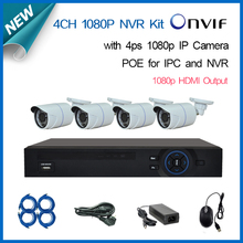 Buy 4CH cctv 2.0mp 1080P Network Security IP Camera 4 channel NVR System support POE NVR Kit home video surveillance+Free for $286.85 in AliExpress store