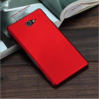 Anti skid Matte Ultra Thin Slim Hard Cover Case For Sony Xperia M2 Aqua D2403 D2406 Mobile Phone Bags(China (Mainland))