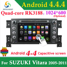Quad core RK3188 CPU 2 Din CAR DVD GPS PLAYER Pure Android 4.4 1024*600 For SUZUKI GRAND VITARA WIFI 3G GPS Blu