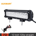 Auxmart 7D 12 inch 120W LED Work Light Bar Spot Flood Combo Beam Cree Chips Bar