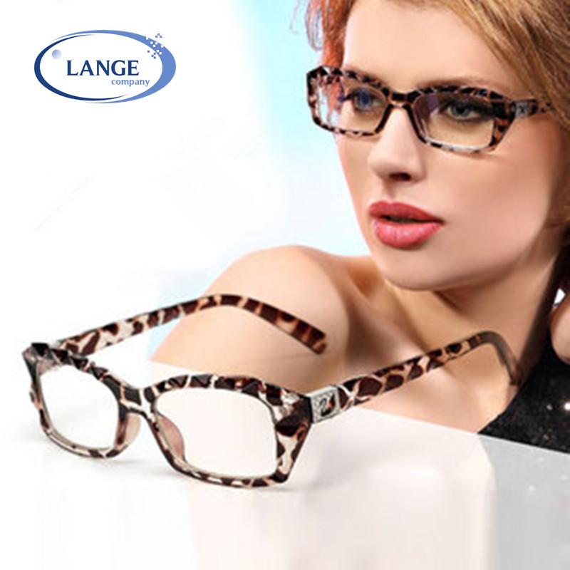 Bebe Leopard Eyeglass Frames : Leopard print glasses Women myopia eyeglasses frame ...