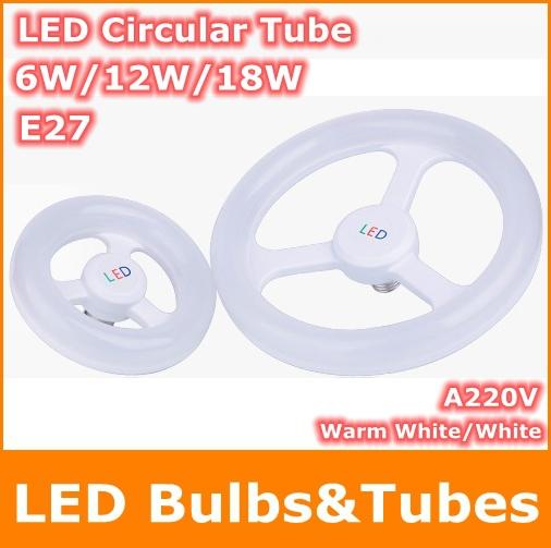 6W 12W 18W AC220V E27 SMD2835 LED Circular Tube Warm White circle Ring lamp bulb light - Tomtop supermarket store