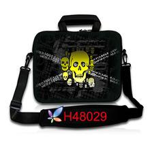 super deal new 2013 fashion human skeleton neoprene  women & men laptop messenger bag waterproof/shockproof/anti-dust