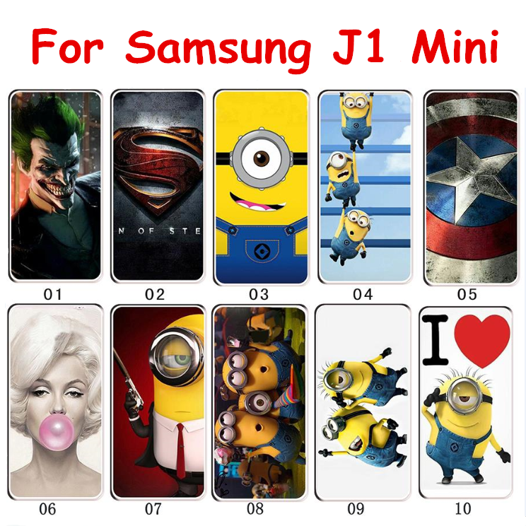 Corlorful Hard Plastic Painted Phone Case For Samsung Galaxy J1 mini (2016) J105 J105F SM-J105H Back Shell Skin Shiekd Cases(China (Mainland))