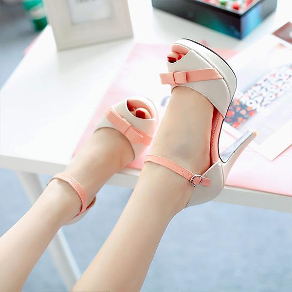 2015 summer new elegant leisure  solid butterfly-knot women sandls high heel women sandal breathable comfort women sandals E325<br><br>Aliexpress