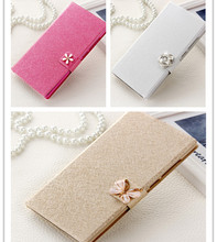 Luxury Flip Cover with 3 types of Crystal Buckle for Samsung Galaxy Core Prime