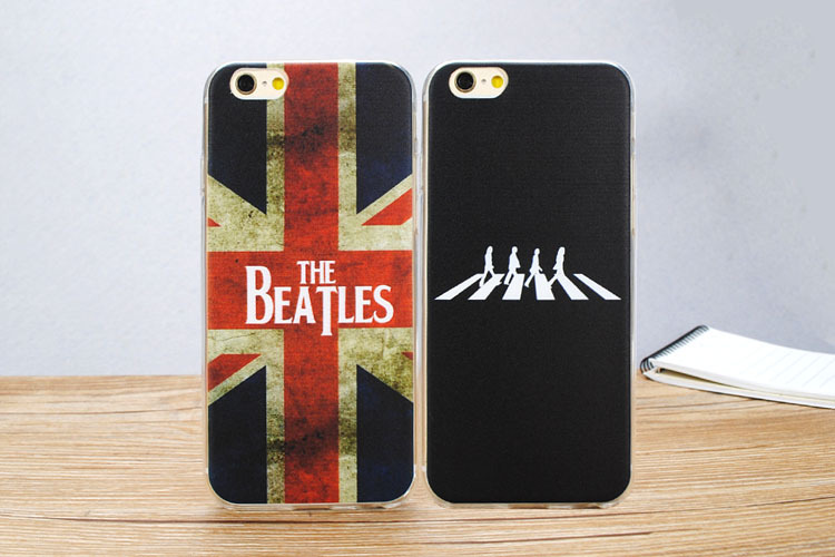 Retro Vintage UK Flag Rock and Roll Band Beatles Cell phone case for iphone5 5s se 6 6s 6plus 6splus novelty phone cover gifts(China (Mainland))