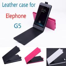 100pcs/lot High Quality For Elephone G5 Luxury Flip Up and Down PU Leather Case,for Elephone G5 with cover case+free gift