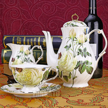 Butterflies 15 coffee set d Angleterre red tea set fashion bone china coffee cup 6 gift