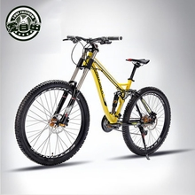 2016 The new 21-speed bicycle 27 downhill mountain bike dual disc brakes oil M soft tail suspension bike(China (Mainland))