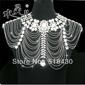 free shipping Bride shoulder chain 2013 NEW Luxury Lace Chain celebration dress wedding  jewelry