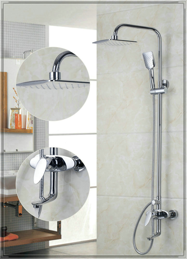 Yanksmart 53702 200mm new chrome brass water pressure for Low water pressure in bathroom sink and shower