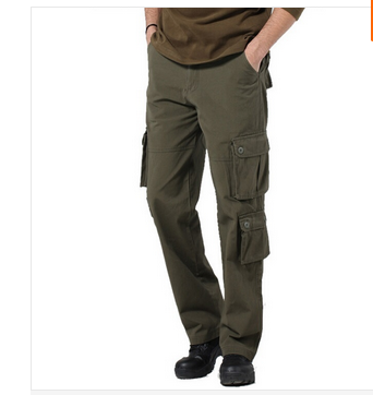 Mens Pants Multi Pockets Black Army Green Tactical Fatigue Camouflage Cargo - Hard-working people store