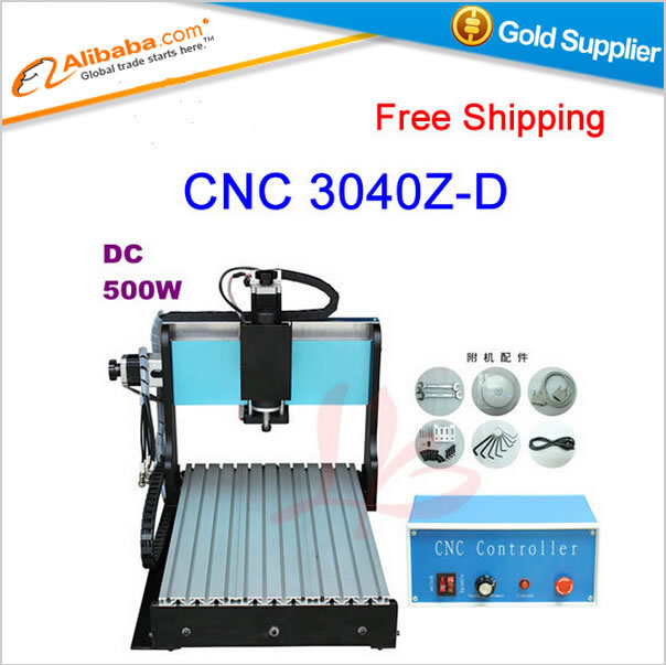 free shipping Hot sell CNC machine 3040 Z-D500W spindle cnc engraving machine with the limit switch, CNC 3040(China (Mainland))