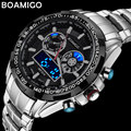 2017 Sports Watch Men Digital Shock Resistant BOAMIGO Quartz Watch Luminous Alarm Dual Disply Wristwatches Outdoor