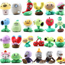 7-14cm Plants vs Zombies Plush Toys Plants vs Zombies Soft Stuffed Plush Toys Doll Baby Toy for Kids Gifts Party Toys(China (Mainland))