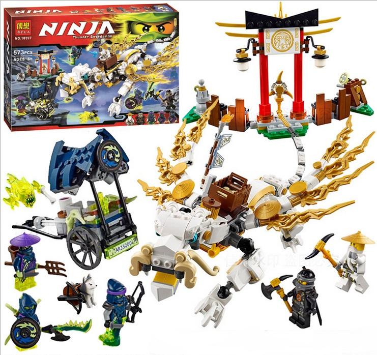 2015 NINJA  Master WU Dragon Ninja Building Kit 573pcs Building Blocks Figures Toy Compatible legoelieds ninja go original 10397<br><br>Aliexpress