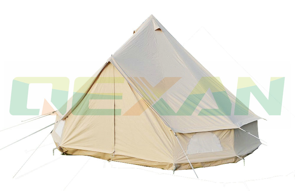 Free Shipping ! 5M Canvas bell tent Cotton winter tent wall rolled up for outdoor camping(China (Mainland))