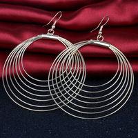 New Arrival Fashion Trendy Big Hoop Earrings Women Gold Plated/Silver Plated Round Hoop Earrings Jewelry