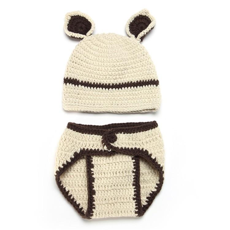 Кролик новый род baby девушка мальчика крючком вязать костюм фото фотография prop наряд шляпу Сомбреро вводной Хат bebe