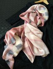 Temperament Spring Pure Silk Scarf,  Women's Fashion Long Silk Scarves Wraps Shawl Travel Accessory(China (Mainland))