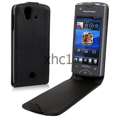 New Mobile Phone Up and Down Leather Case for Sony Ericsson Xperia ray ST18i