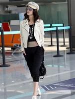 весной 2015 года новые моды женщин куртки пальто тонкий короткий Пу куртка женщин 4 цвета Куртки кожаные для женщин топы