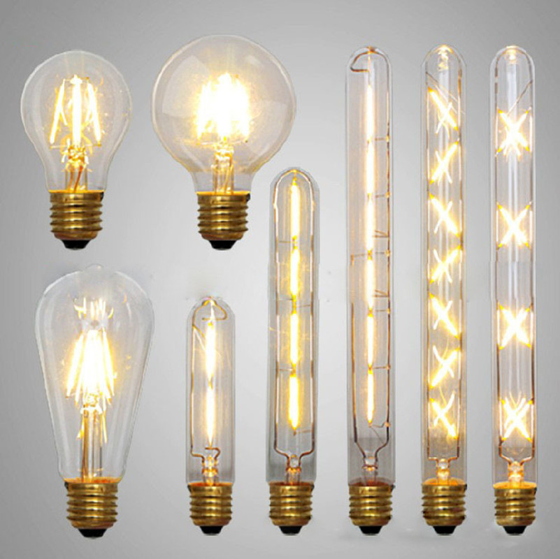 led edison bulb retro bombillas led e27 vintage cob led filament. Black Bedroom Furniture Sets. Home Design Ideas